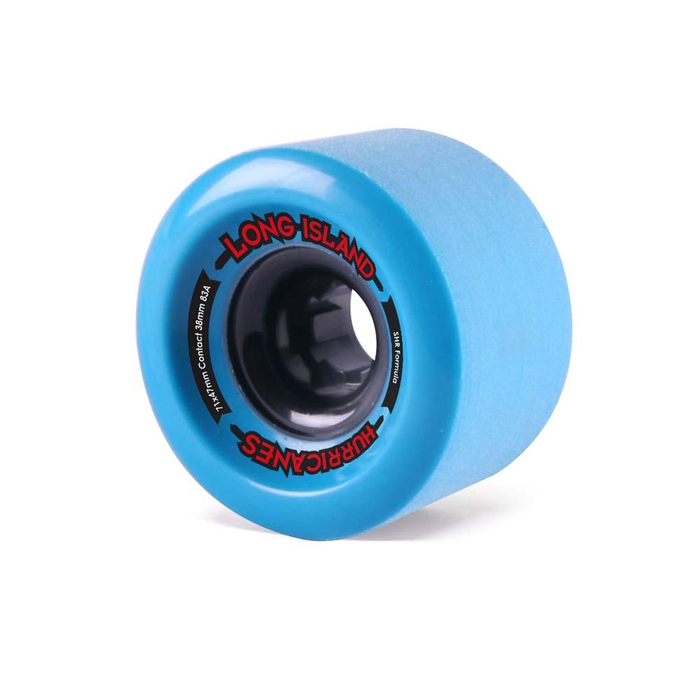 long island longboards hurricanes wheels 71x47mm blue